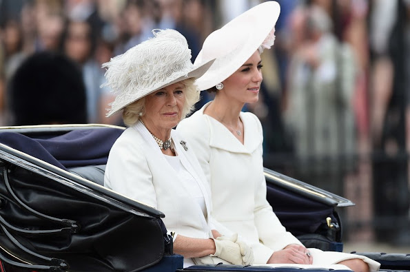 Queen Elizabeth II and Prince Philip, Duke of Edinburgh, Camilla, Duchess of Cornwall, Catherine, Duchess of Cambridge, Prince William, Prince Harry, Anne, Princess Royal, Sophie, Countess of Wessex, Prince Edward, Earl of Wessex, Lady Louise Windsor and James Viscount Severn Princess Beatrice, Princess Eugenie, Prince Andrew, Duke of York