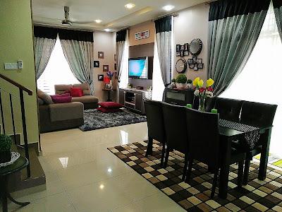 gambar ruang dekorasi ruang tamu dengan ruang makan