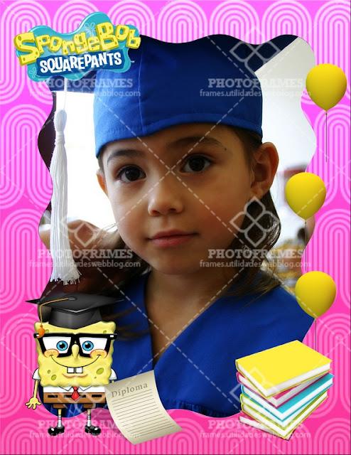 Marco para fotos de graduación para niña