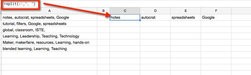 Google Spreadsheets - Combine Column Data into One Column