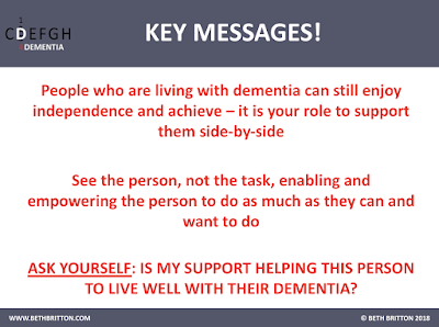 Key Messages for 'Living with dementia'