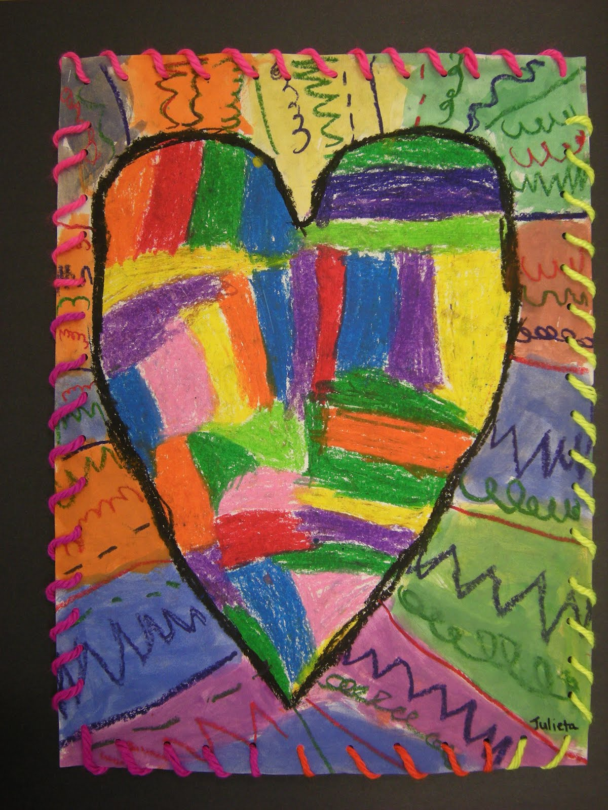What S Happening In The Art Room 1st Grade Jim Dine Hearts