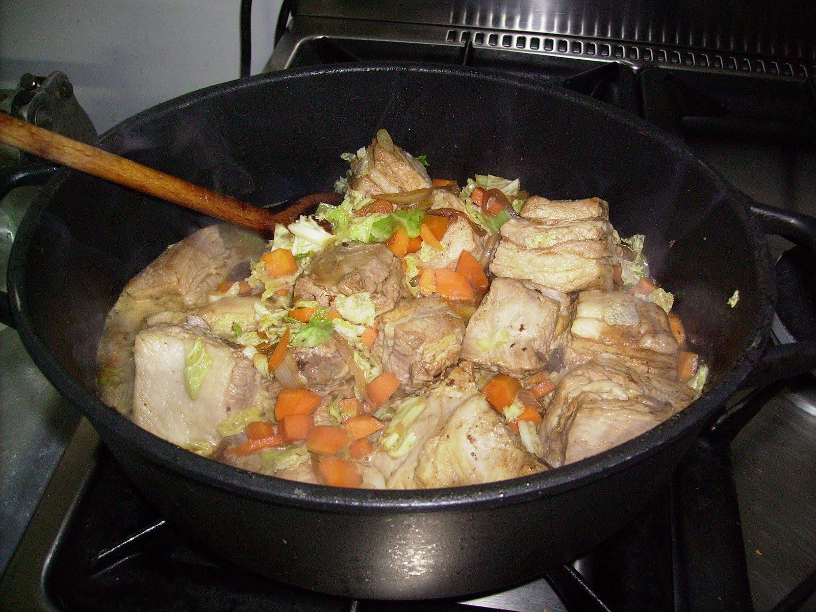 saute porc cidre
