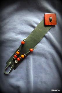 Lovelea's red vintage button bracelets