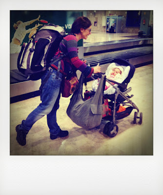 Zaino e borsoni per viaggio con bambina in aereo