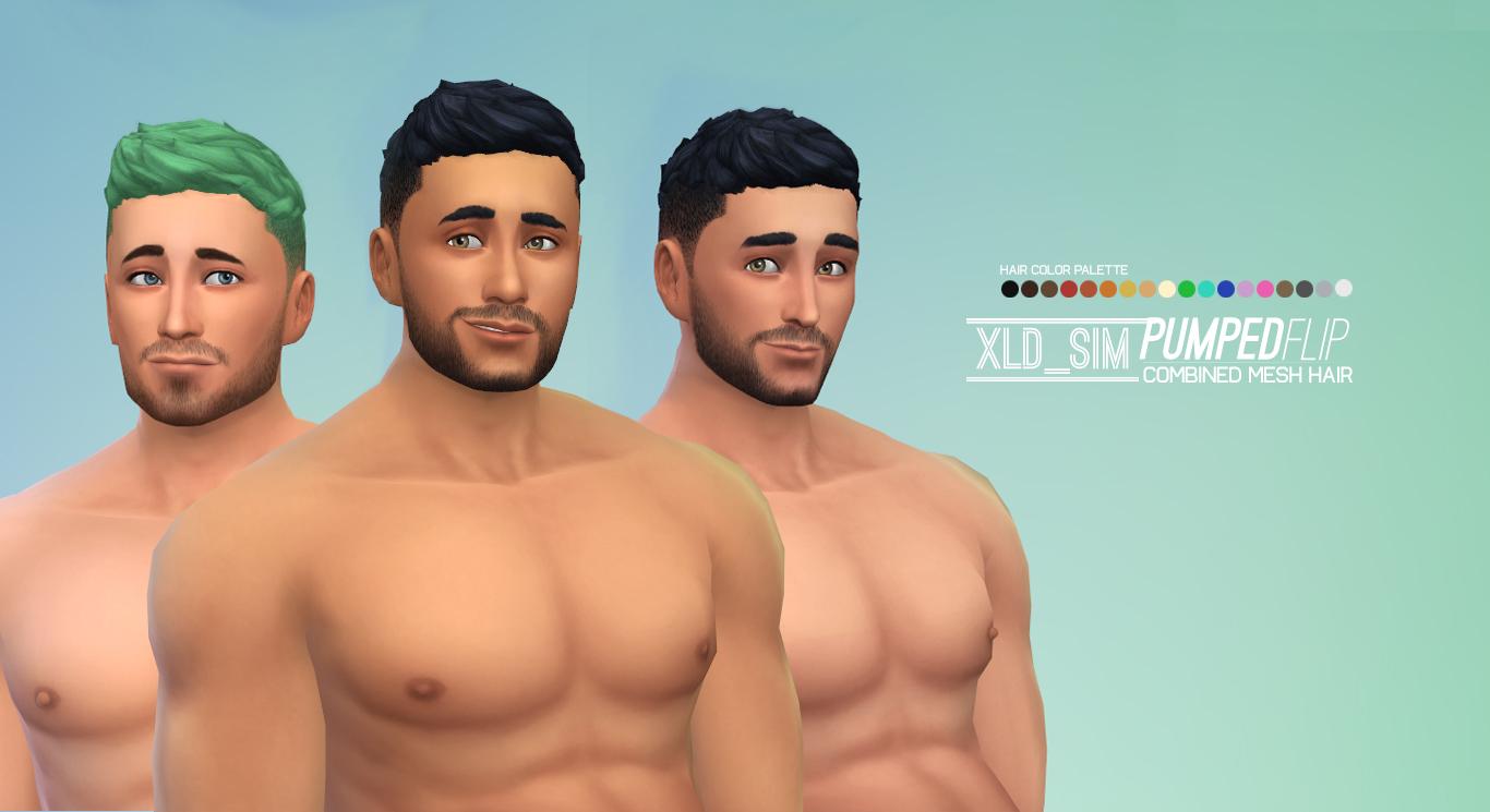 My Sims 4 Blog: Pumped Flip Hair by Xalder - MTS