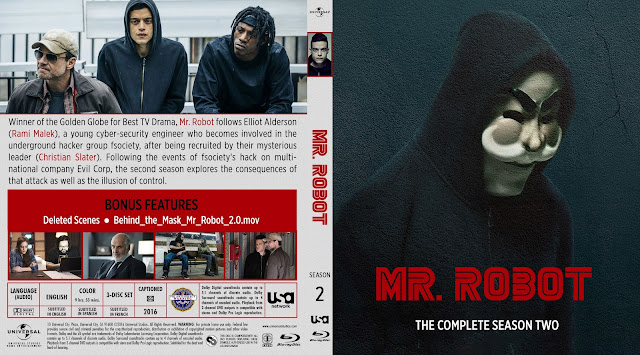 Capa Bluray Mr Robot Segunda Temporada Completa