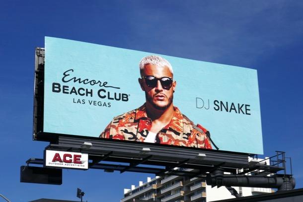 DJ Snake Encore Beach Club Vegas billboard