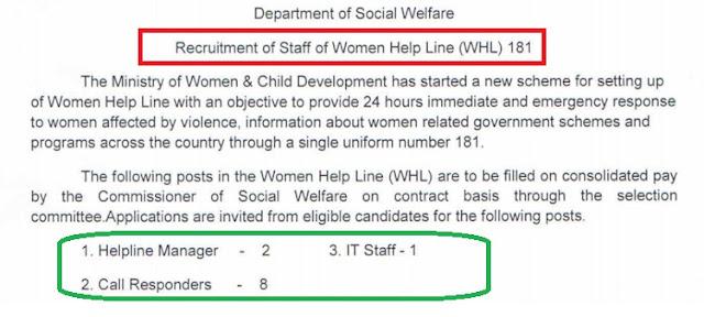 Tn Govt Women Helpline Reuitment 2018: 11 post of Helpline Manger, IT Staff, Call Respondents