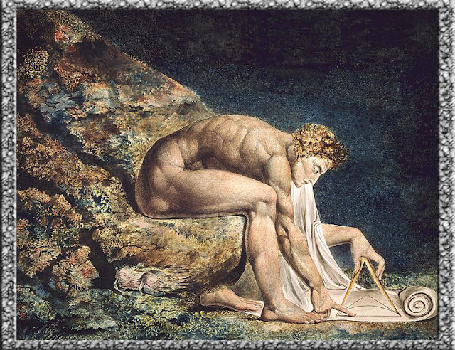 Foto Gambar Newton, oleh William Blake