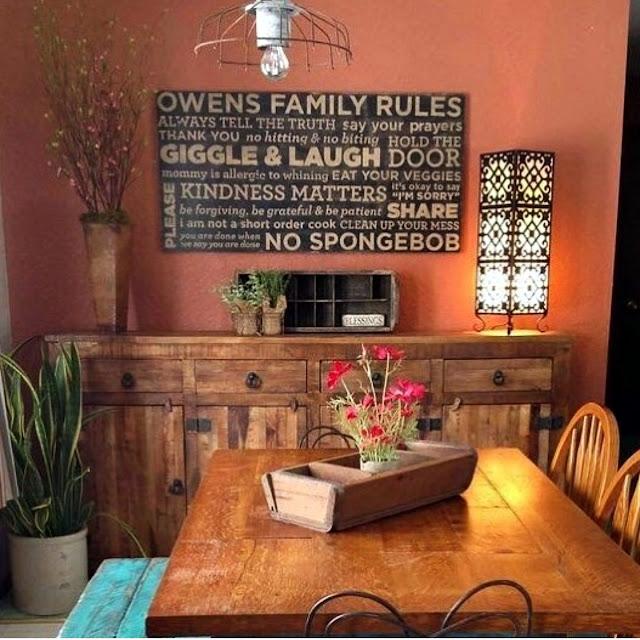 decoração-rustica-sala-de-jantar