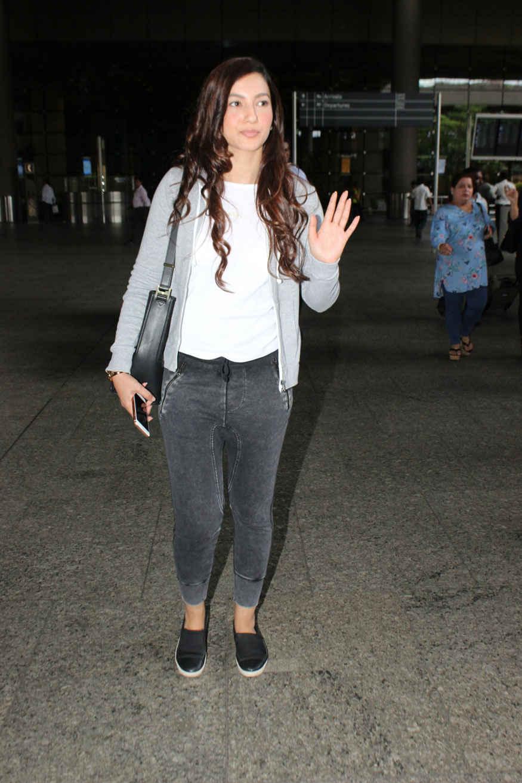 Gauhar Khan Snapped at Mumbai Airport