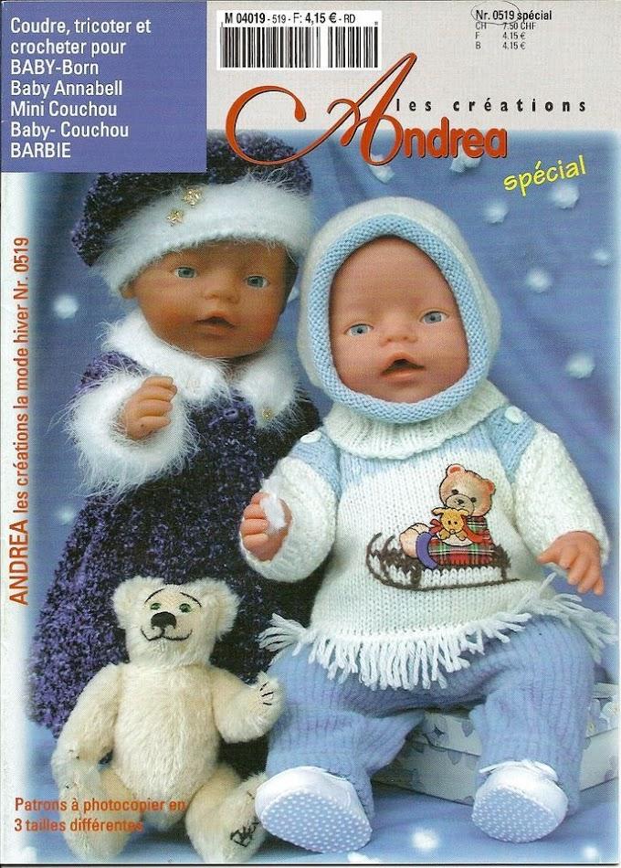 Andrea Les Créations Spécial Nº 0519-Costura,Tricô e Crochê-Bonecas