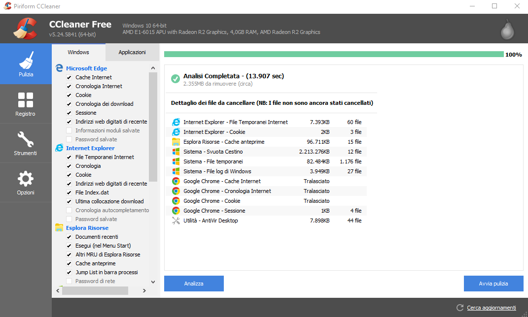 programmi per la pulizia pc windows 10 - tantilink