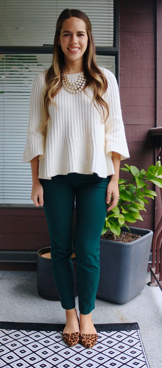 Jules in Flats - Ribbed Peplum Sweater