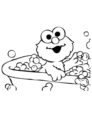 Gambar Mewarnai Elmo - 16