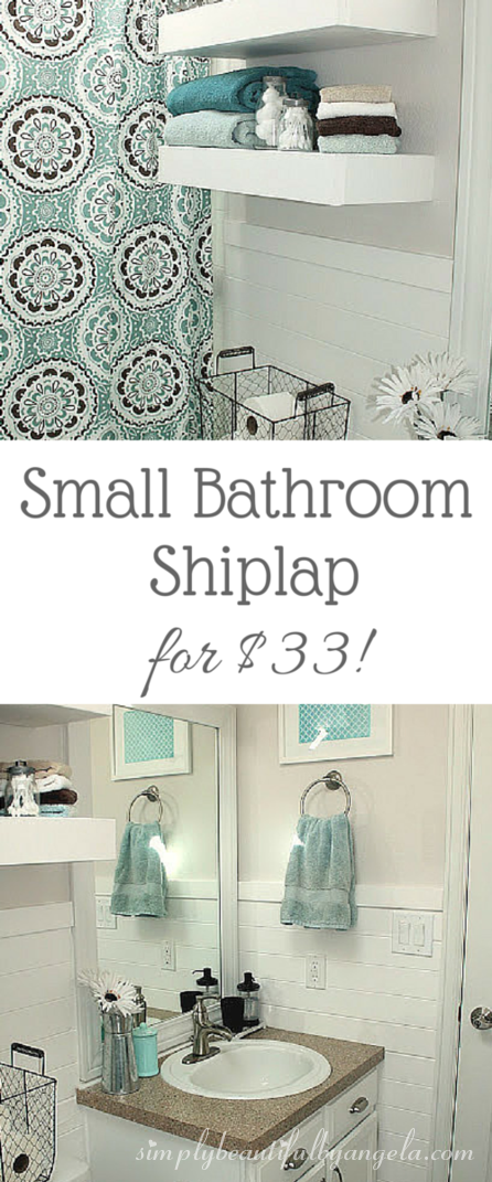 Simply beautiful by angela shiplap in the bathroom for Simply bathrooms