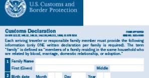 Sample usa customs declaration form 6059b altavistaventures Gallery