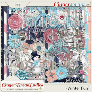 Creative Team, Annemarie, for GingerScraps - December {2017} Free with $10.00 Purchase:  Winter Fun