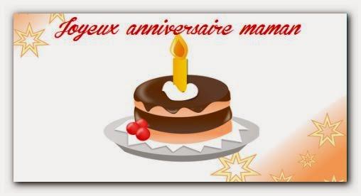Message d'anniversaire pour maman