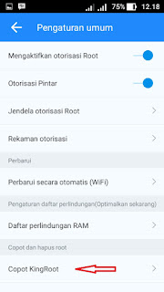 Proses unroot android