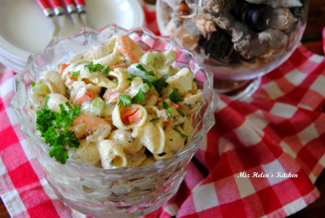 Creamy Italian Shrimp and Pasta Salad at Miz Helen's Country Cottage