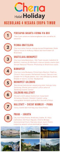 Paket wisata halal Eropa Cheria