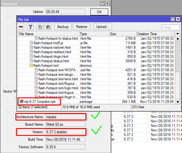 Alasan Kenapa Tidak Bisa Install file NPK di Mikrotik