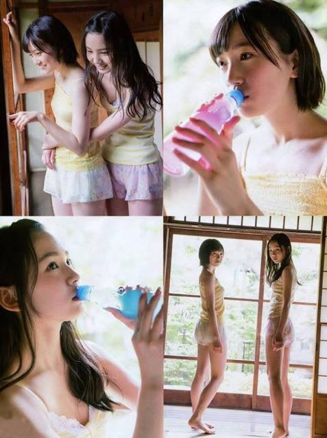 HKT48 Misaki Aramaki and Erena Sakamoto Entame Gravure Photos 02