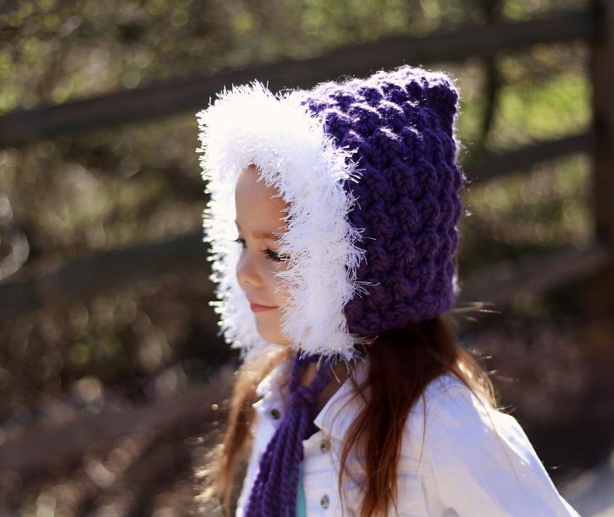 Holly Hood Chunky Furry Hood Pixie Hood Free Crochet Pattern