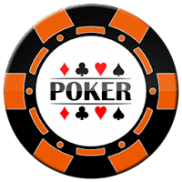orange and black poker chip