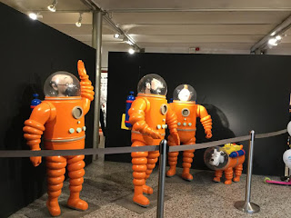 Pic of Tintin characters in spacesuits