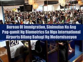 """As the number of travellers expected to rise this holiday season, the Bureau of Immigration (BI) started the implementation of biometrics in Philippine international airports including Ninoy Aquino International Airport (NAIA).  According to BI Commissioner Jaime Morente, the biometric system is a part of BI modernization in determining and preventing entry of undesirable aliens in the country. Morente said that BI is already implementing a new software called Border Control Information System (BCIS) that will process all international passengers that are coming to and from the Philippines. Aside from speedy immigration counter process, the new system can also be used in identifying undesirable foreigners.  Sponsored Links       BCIS uses camera and finger scan device which results to automatically compare the actual image to the image that appears to the passport and the BI database which determine if the person has any negative records in the bureau.  BI port operations division chief Marc Red Marinas  said that the BCIS is also connected to the databases of the Interpol and the australian immigration department.  """"With this system the use of fraudulent travel documents and disguising one's physical appearance will soon become inutile,"""" said Marinas.  The BCIS pilot testing has been made to provincial international airports particularly in Mactan-Cebu, Clark, Kalibo, Davao and Laoag. Biometrics system has already been installed as early as 3 years ago.   Source: Interaksyon       Advertisement  Read More:                     ©2017 THOUGHTSKOTO"""