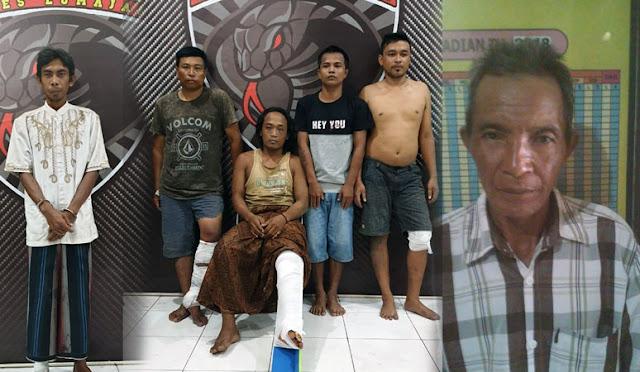Pelaku saat diamankan di Polres Lumajang