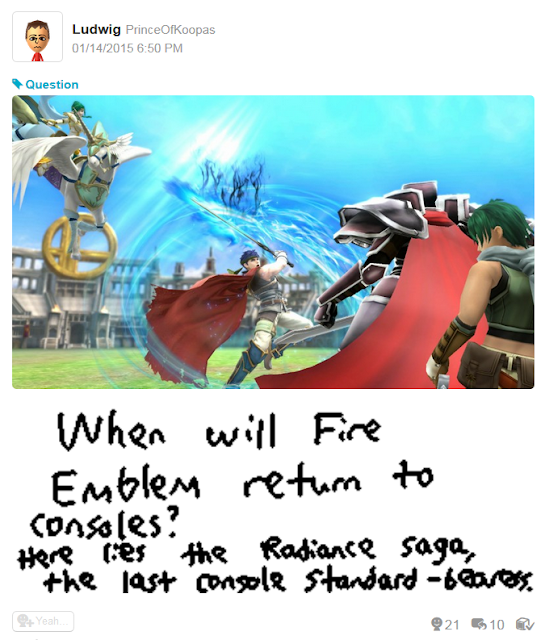 Super Smash Bros. For Wii U Radiance Tellius saga Fire Emblem trophies Ike Elincia Sothe Black Knight