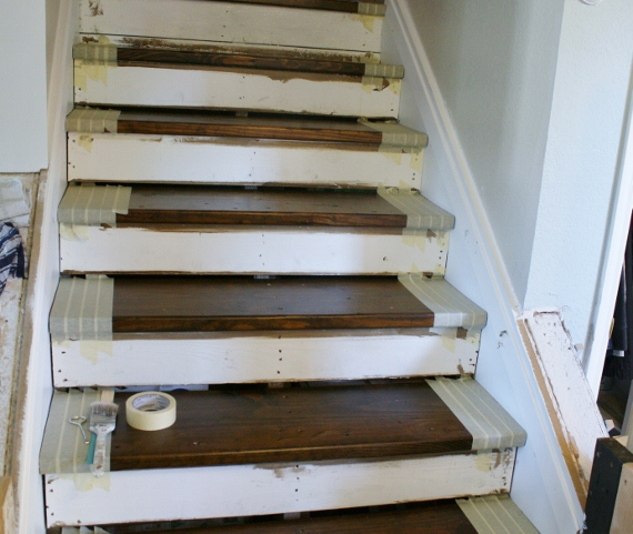 I Was Extra Careful To Tape Because I Didnu0027t Want White Paint To Get Into  Any Of The Holes That Are In The Stair Treads.