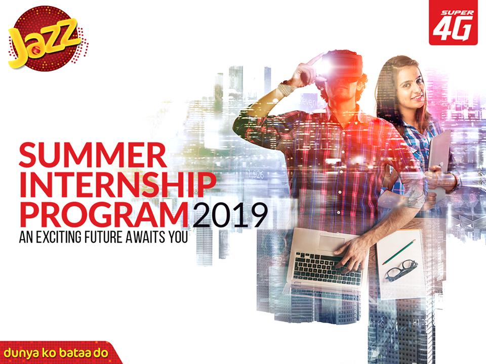 Jazz Summer Internship Program 2019 | Monthly Stipend Rs. 35,000