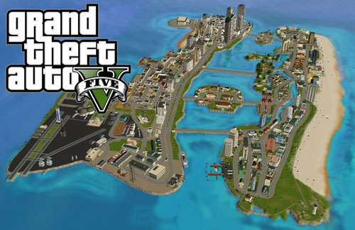 Free Download GTA Vice City Map Mod For GTA V With installation