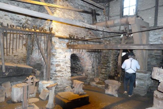 Oude smederij in Annaberg Buchholz in Ertsgebergte