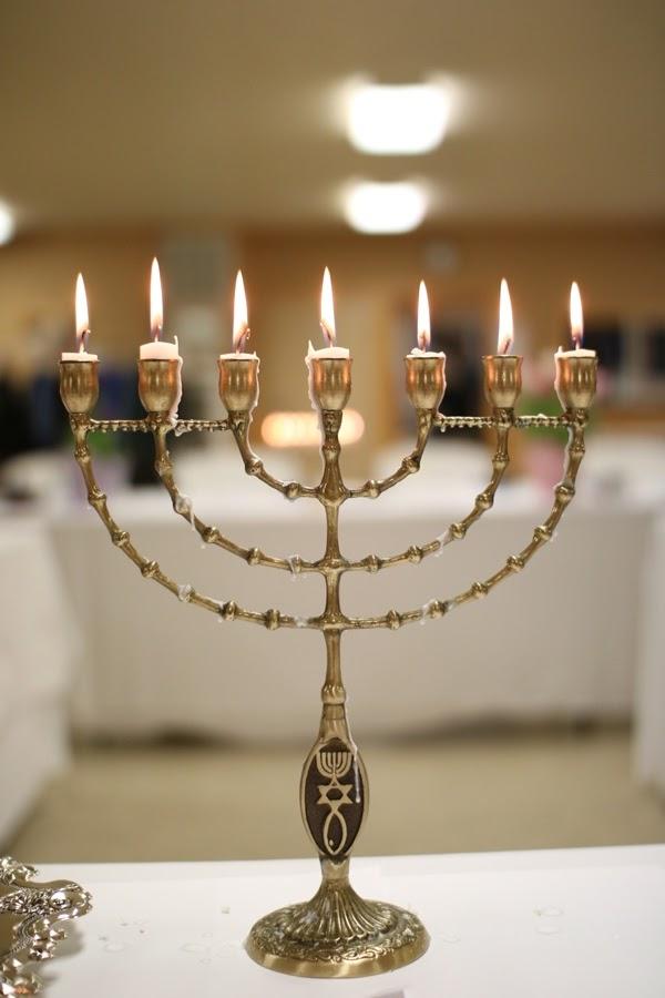 Messianic Menorah at Passover Seder | Land of Honey