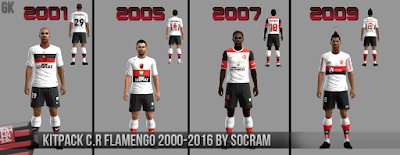 PES 2013 KitPack C.R Flamengo 2001-2016 by Socram