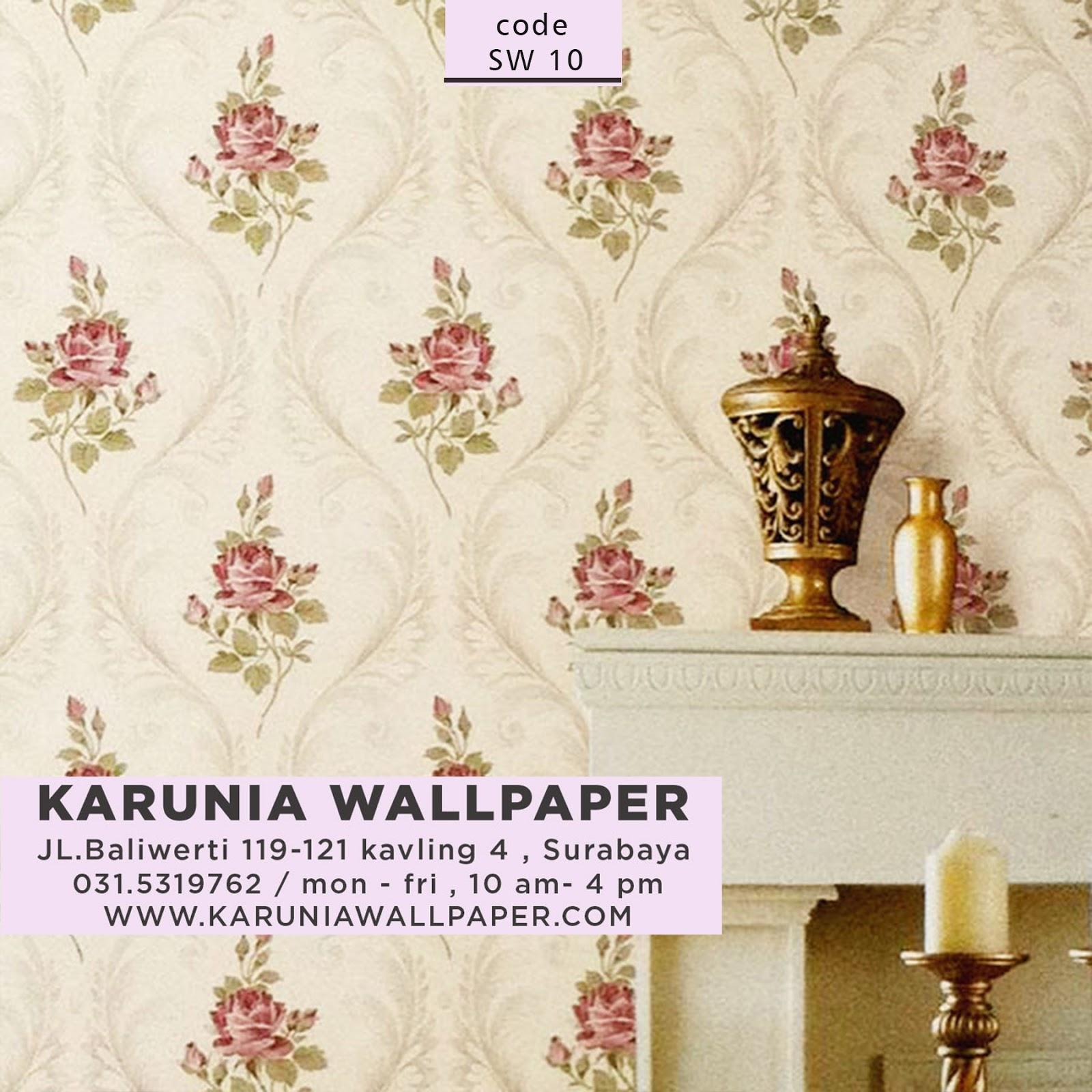 jual hiasan dinding rumah pastel shabby chic wallpaper