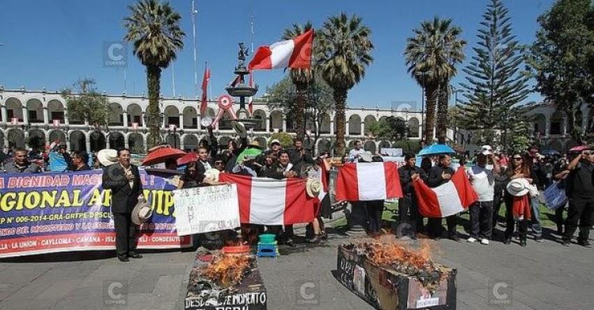 Docentes SUTEP Arequipa continuarán con huelga indefinida