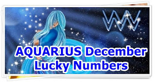 AQUARIUS December 2016 Lucky Numbers Forecast