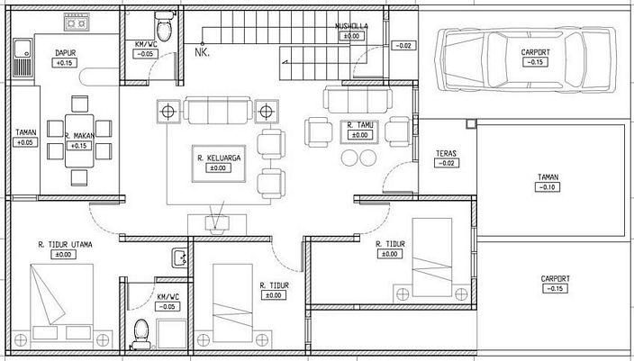 denah rumah simple yang kreatif