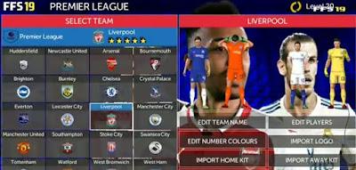 FTS 19 Mod Liga Eropa