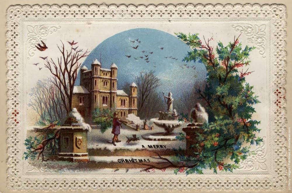 arte sacra cart213es de natal vintage antigos