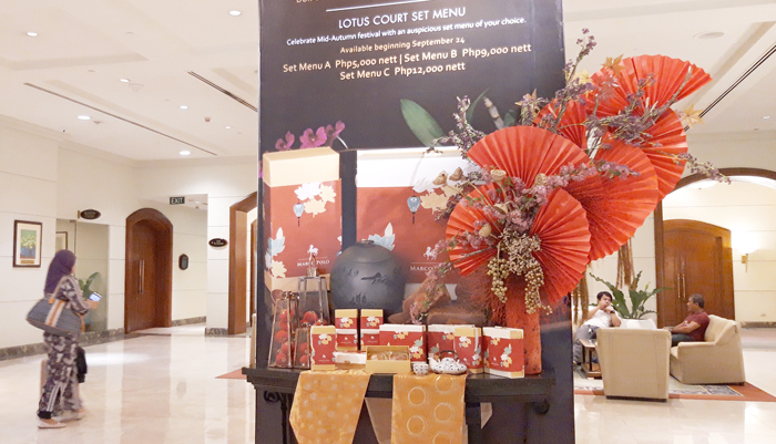 Mooncake boxes up for picking and celebrating at Marco Polo Davao lobby