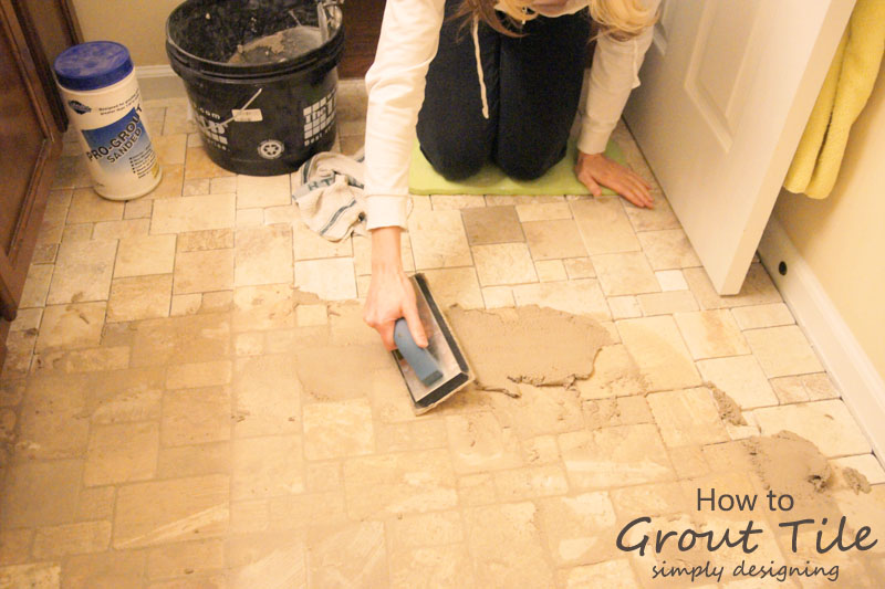 How to Grout Tile | a complete tutorial for how to demo, prep, install concrete backer board and install tile | #diy #bathroom #tile #thetileshop @thetileshop