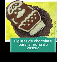 FIGURAS DE CHOCOLATE PARA LA MONA DE PASCUA